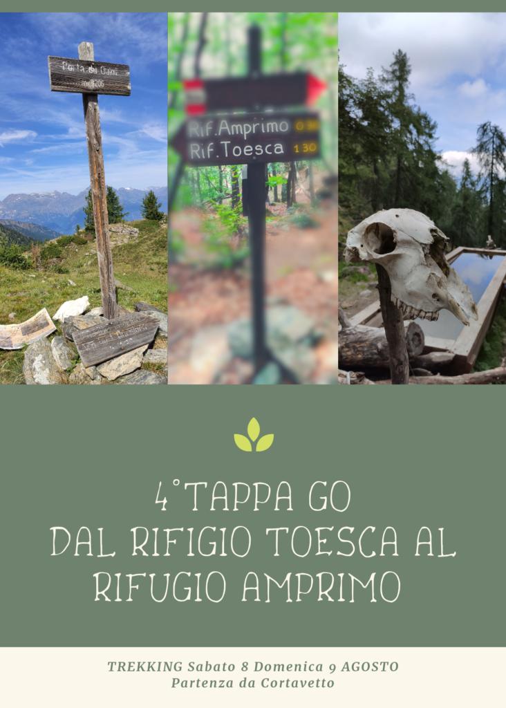 4^ tappa GO dal Rifugio Toesca al Rifugio Amprimo