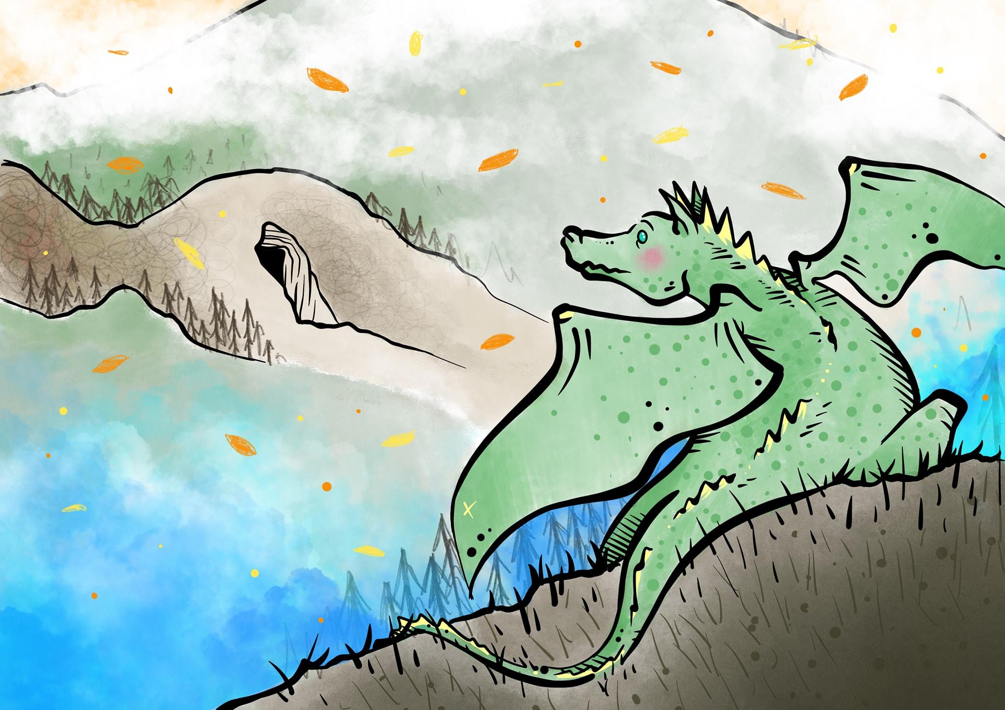 illustrazione richiamo dragonessa